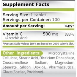 Vitamina C-500 mg, 100 tablete
