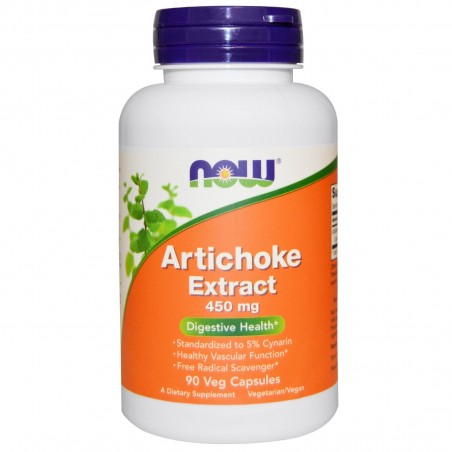 Now Foods Artichoke, Anghinare extract 450 mg 90 Capsule