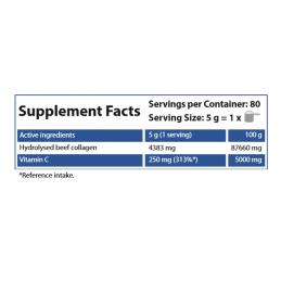 Colagen Hidrolizat pudra 400 grame, beneficii, pret, pareri, efecte, prospect, antiriduri