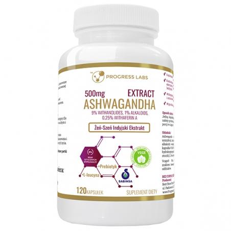 Progress Labs Ashwagandha Extract 500mg 9% Withanolides 120 Capsule