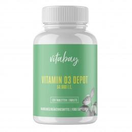 Vitamina D3 - 50.000 UI - 120 Tablete, 25.000% Doza zilnica, foarte concentrat