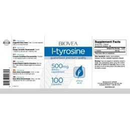 L-TYROSINE 500mg 100 Capsule (L-Tirozina)