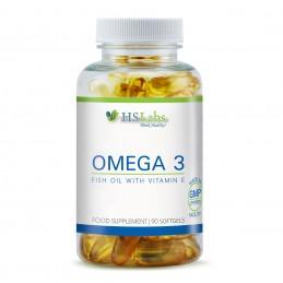 Omega 3 1000 mg 90 Capsule cu Vitamina E