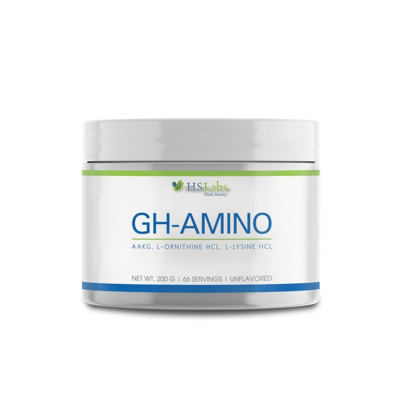 GH Amino pulbere 200 grame, Arginina, L-lizina, L-ornitina