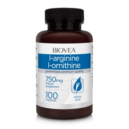 L-Arginina / L-Ornitina (750mg) 100 Capsule