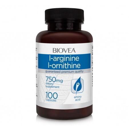 Biovea L-Arginina / L-Ornitina (750mg) 100 Capsule