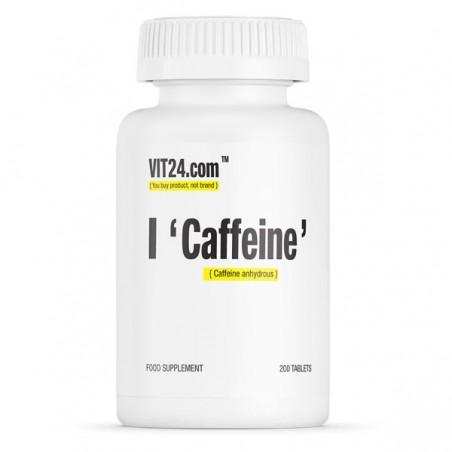 VIT24.com Caffeine 200 mg 200 Tablete