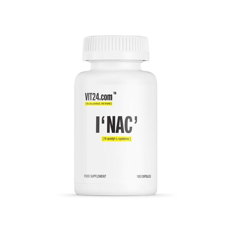 VIT24.com NAC VEGE, N-Acetyl L-Cysteine, 500mg 100 Capsule