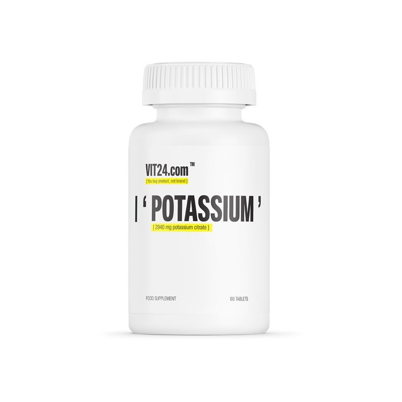 VIT24.com Potassium 60 Tablete, beneficii, pret, efecte, indicatii, pareri, doze, prospect