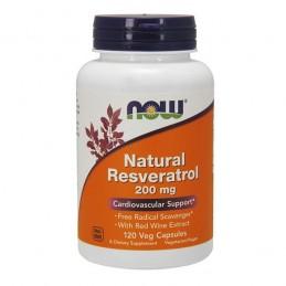 Natural trans Resveratrol 200 Mg 120 Capsule, cu extract de vin rosu
