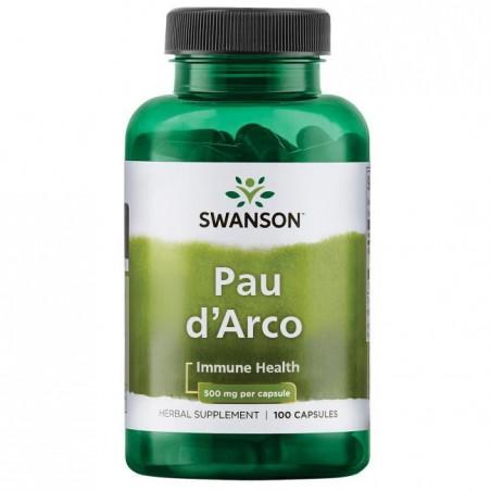 Swanson Pau D'Arco 500 mg 100 Capsule