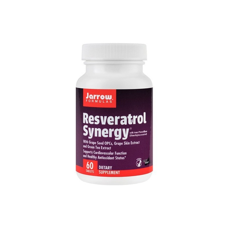 Resveratrol Synergy - 60 Tablete, Beneficii, Administrare, Prospect, Efecte, Pret, Doze, Pareri, Indicatii