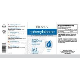 L-Fenilalanina (L-Phenylalanine) 500mg 50 Capsule