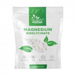 Raw Powders Magneziu Bisglicinat 500 mg 120 Tablete Beneficii Bisglicinat de Magneziu: Bisglicinatul de Magneziu ajuta in- reduc