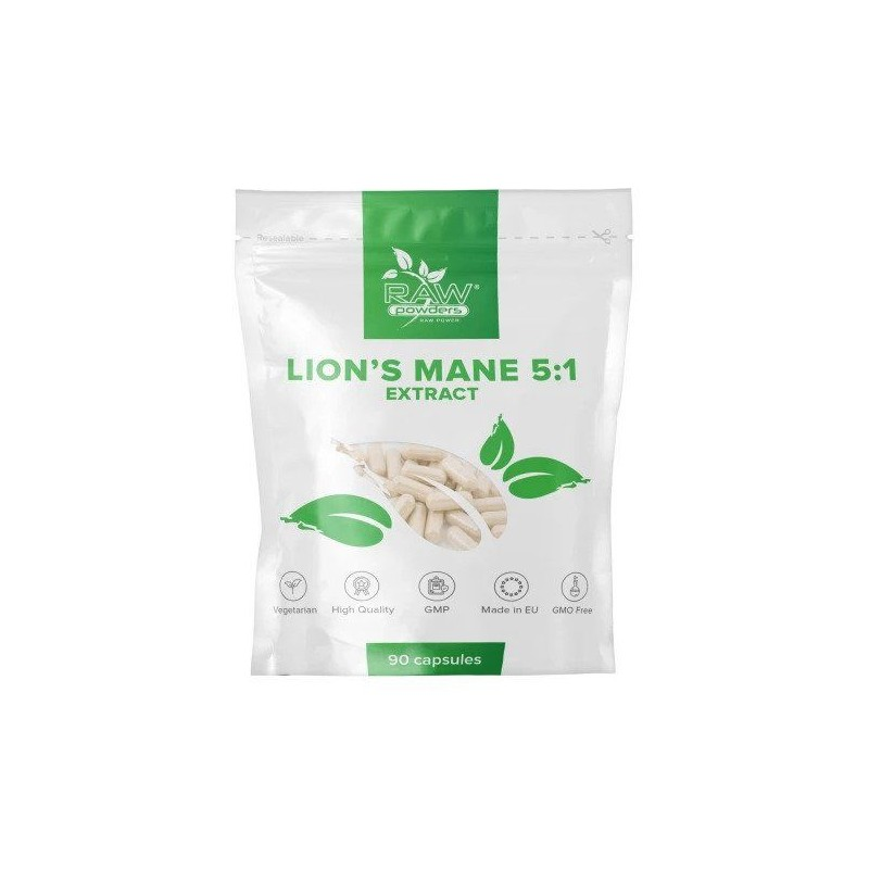 Lion's Mane 51 Extract 500 mg 90 Capsule (Coama leului), pret, prospect, beneficii, efecte