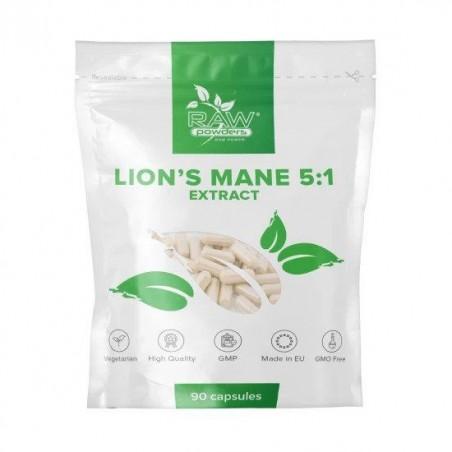 Raw Powders Lion's Mane 5:1 Extract 500 mg 90 Capsule