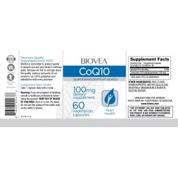 Coenzima Q10 (CoQ10) 100mg 60 Capsule vegetariene