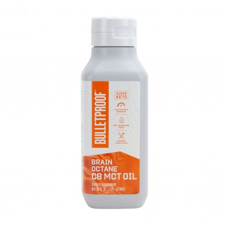 Bulletproof BRAIN OCTANE OIL, C8 MCT Oil, Ulei pur MCT, 473ml