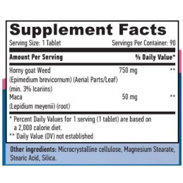 Horny Goat Weed Extract (Iarba caprei nebune) 750mg + MACA 90 Tablete