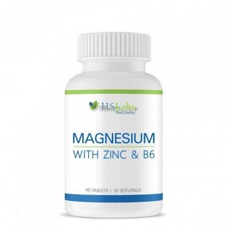HS Labs Magneziu, Zinc, Vitamina B6, 90 Tablete