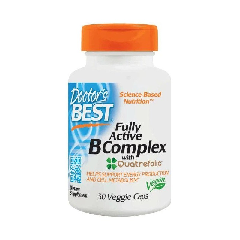 Doctor's Best Fully Active B-Complex with Quatrefolic 30 vcaps