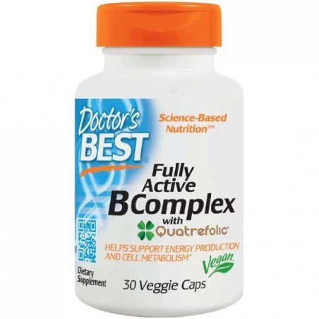 Doctor's Best Fully Active B-Complex with Quatrefolic 30 Capsule