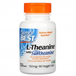 Doctor's Best L-Theanine with Suntheanine, 150mg - 90 Vcapsule