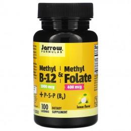 Jarrow Methyl Vitamina B-12 (Metilcobalamina), 1000mcg 100 Comprimate