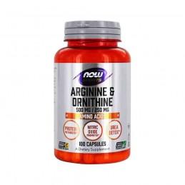 NOW Foods Arginine & Ornithine, 500/250 - 100 Capsule