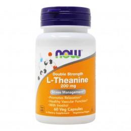 NOW Foods L-Theanine cu Inositol, 200mg - 60 Capsule