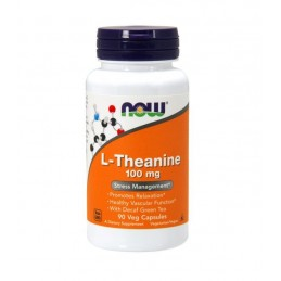 NOW Foods L-Theanine cu Inositol si Taurine, 100mg - 90 comprimate masticabile