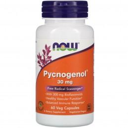 NOW Foods Pycnogenol, 30mg - 60 Capsule Pycnogenol®:un puternic antioxidant, sprijină echilibrul colesterolului sănătos, ajută