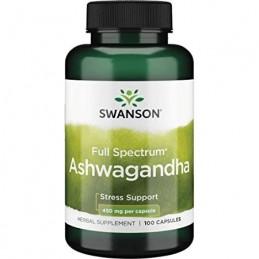 Swanson Ashwagandha, 450mg - 100 Capsule