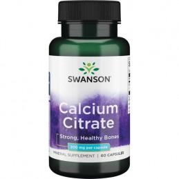 Swanson Calcium Citrate, 200mg - 60 Capsule