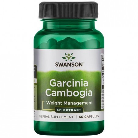 Swanson Garcinia Cambogia 5:1 Extract, 80mg - 60 Capsule