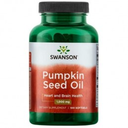 Swanson Pumpkin Seed Oil (Ulei dovleac), 1000mg - 100 Capsule