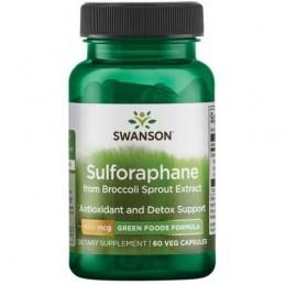 Swanson Sulforaphane din Broccoli Sprout Extract, 400mcg - 60 Capsule