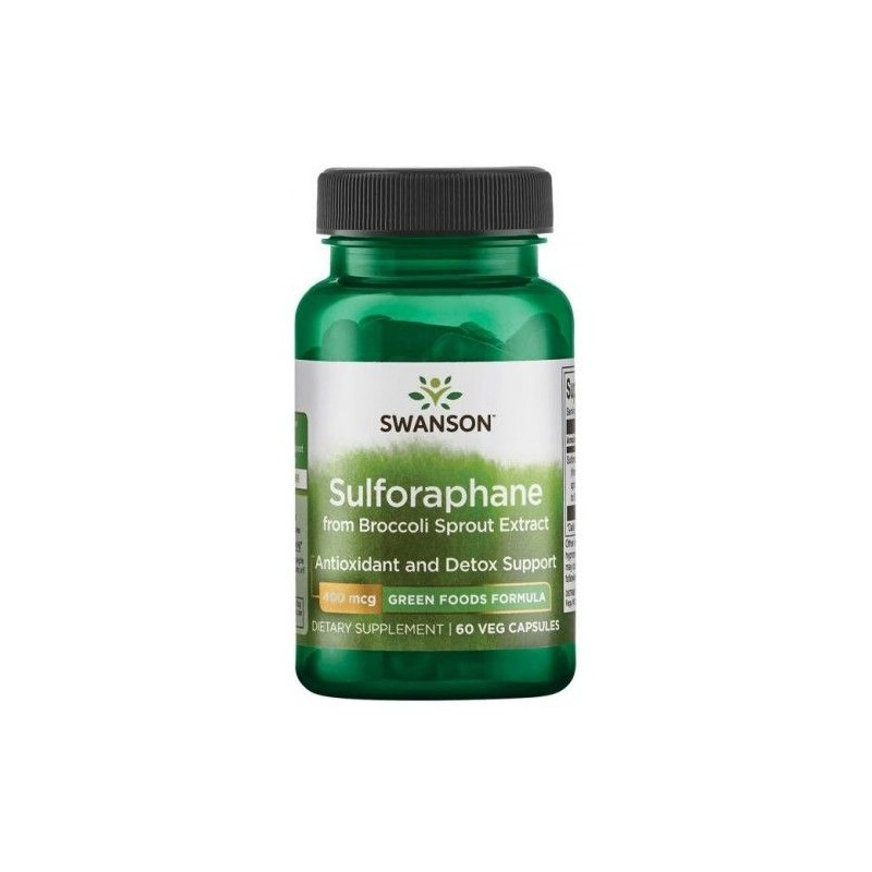 Swanson Sulforaphane din Broccoli Sprout Extract, 400mcg - 60 Capsule
