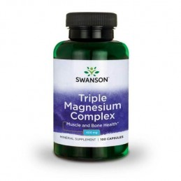 Swanson Triple Magnesium Complex, 400mg - 100 Capsule