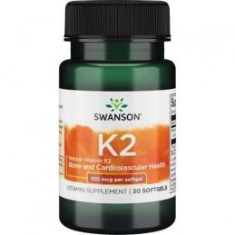 Swanson Vitamin K2 - Natural, 100mcg - 30 Capsule