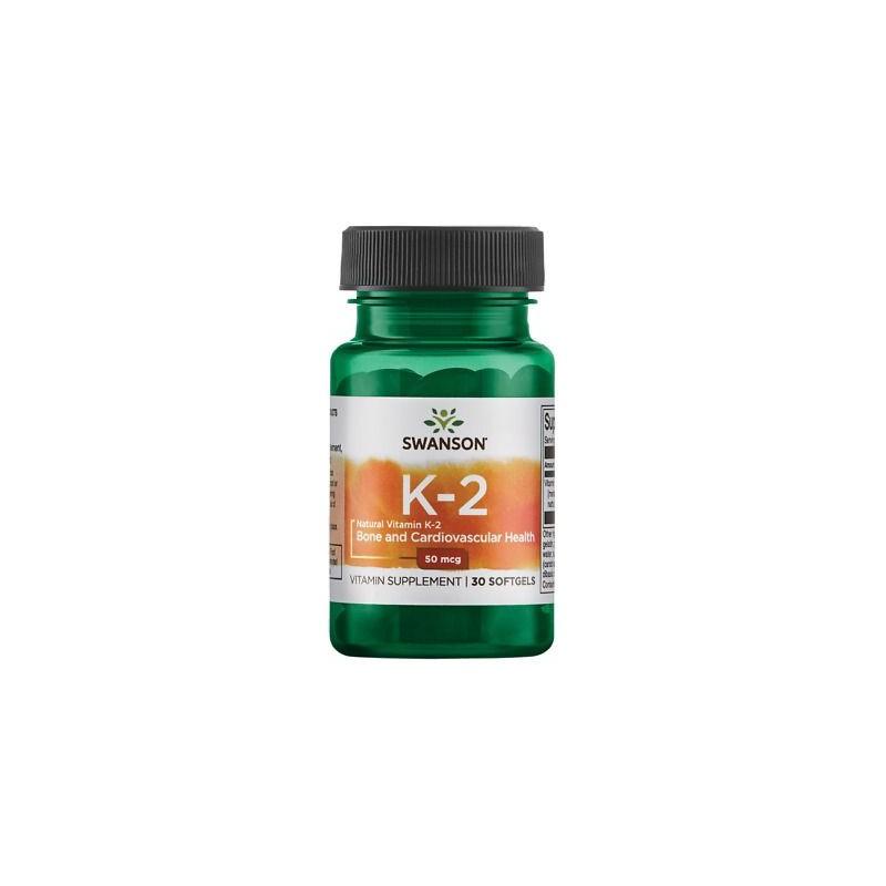 Swanson Vitamin K2 - Natural, 50mcg - 30 Capsule