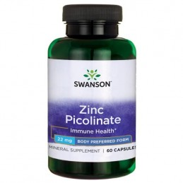 Swanson Zinc Picolinate Body Preferred Form, 22mg - 60 Capsule