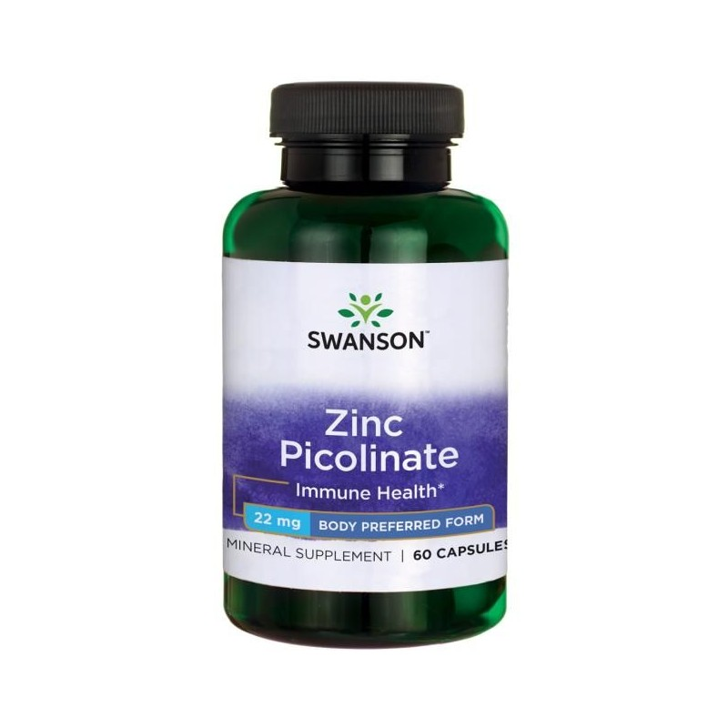 Swanson Zinc Picolinate Body Preferred Form, 22mg - 60 Capsule