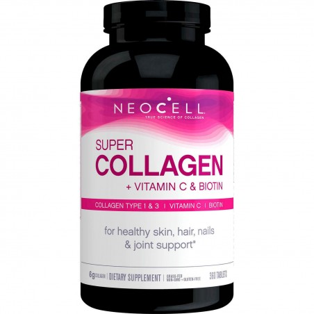 Neocell, Super Collagen + Vitamina C cu Biotina 360 Tablete
