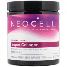 Neocell, Super Collagen Hidrolizat tip 1 si 3, pudra fara aroma, 198 grame