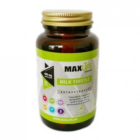 MAXLife MILK THISTLE (Lapte de ciulin, Armurariu) 200mg 60 Capsule (400mg per doza)