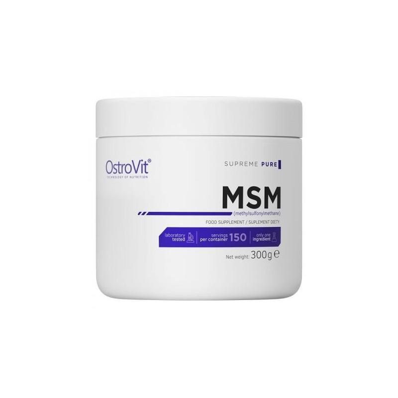 OstroVit Supreme Pure MSM 300 grame Beneficii MSM: permite mușchilor și articulațiilor să se vindece mai rapid, creșteți energia