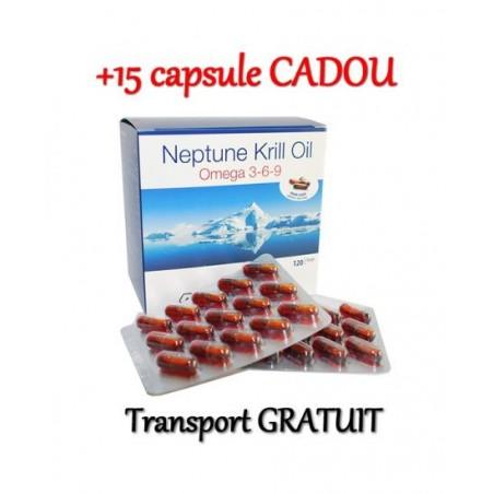 Neptune Krill Oil 180 + 15 capsule, Omega 3-6-9, colesterol, trigliceride, articulatii