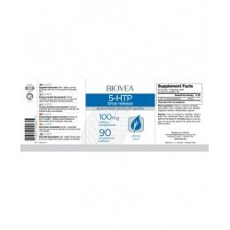 Biovea 5-HTP (eliberare treptata) 100 mg 90 Comprimate 5-HTP: o soluție naturală pentru anxietate și depresie, ajută la atenuare