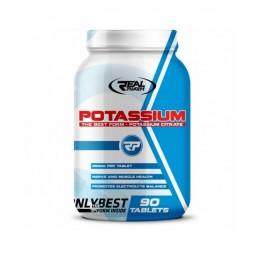 Real Pharm Potasiu 90 Tablete Beneficii Potasiu: regleaza tensiunea arteriala crescuta, elimina sensibilitatea la sare, reduce r